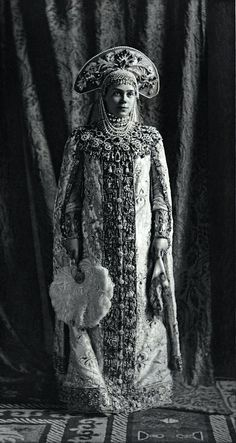 Found this amazing image on the very excellent Pinterest page of the Wall Street Journal...Gorgeous dress: Grand Duchess Xenia Alexandrovna of Russia