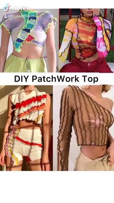 Fashion Hacks, 90s Fashion, Girl Fashion, Fashion Show, Fashion Outfits, Fashion Tips, Diy Crop Top, Crop Tops, Basic Outfits