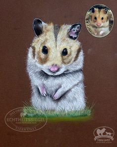 """Kleiner Sir"" Hamster Pastell Portrait.  #petportrait #hamster #animalpainting"