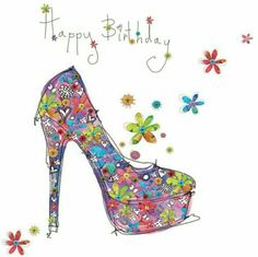 Happy birthday female lady heels