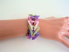 ConCathCuff - Bracelet or Beaded Chain - Tutorial | SamohtaC - Cath Thomas Designs