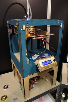 An Ultimaker 3D printer at work.   Seen @  RapidPro 2013 Conference & Exhibition