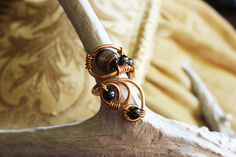 Handwrapped wire agate ring by Paoniasage on Etsy