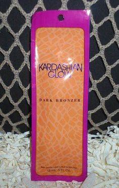 2013 Kardashian Glow Dark Bronzer Tanning Lotion Packet