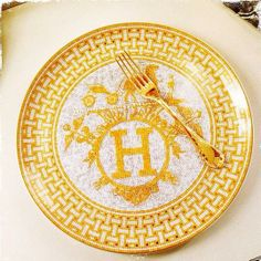 Forget a silver spoon, how about a golden fork! ~Hermes is so divine :)