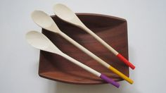 Mardi Gras Wooden Spoons  Colored Spoons  Painted by ReInventHome, $10.00