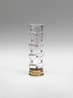 Fabergé firm   (Russian , 19th century)  Parasol Handle    1899 - 1908    Rock crystal, gold, enamel, diamonds