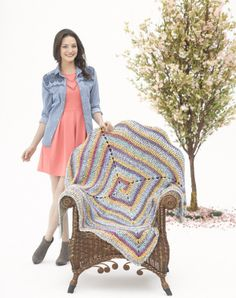 A soft colored afghan might be project to keep spring in your mind.