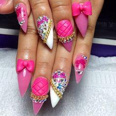 Wild Barbie nails