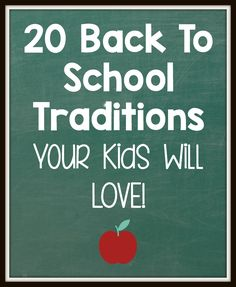 These back to school traditions are so easy, and great ways to make the start of the year more fun!