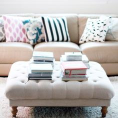 Tufted ottoman - for living room