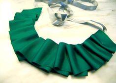 DIY Ruffle : DIY of the Day: Holiday Ruffle Ribbon Collar.  : DIY Jewelry