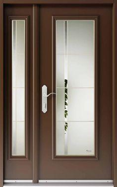 House Gate Design, House Front Design, Home Room Design, Wood Front Doors, Glass Front Door, Sliding Glass Door, Modern Entrance Door, Modern Exterior Doors, Frosted Glass Design