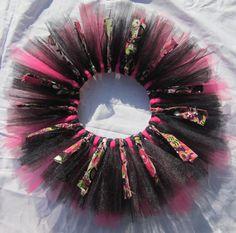 Scrappy Girl Skirt Tutu Funky Floral Skirt by CarriesSewingRoom