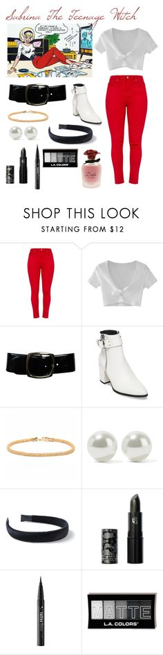 """""""Archie Comics"""" by noellemary ❤ liked on Polyvore featuring WithChic, Chanel, Steve Madden, Peermont, Kenneth Jay Lane, Miss Selfridge, Lipstick Queen, Kat Von D and Dolce&Gabbana"""