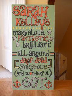 My Kappa Delta SET group sign!
