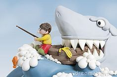 Shark Cake Close up by Martine De Graaf, via Dreamstime