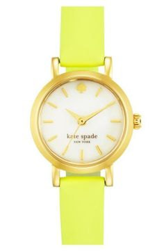Pop of color! Love this yellow Kate Spade watch.