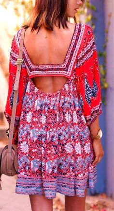 #boho #fashion #spring #outfitideas Bohemian Cut Out Dress  - more on http://ift.tt/2rynWxj