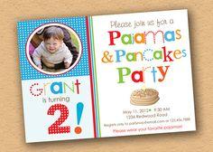 Pancakes and Pajamas Party Invitation  PHOTO  by inkberrycards, $18.00