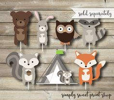 Woodland Animal Animals Boy Birthday Party by SimplySweetPrintShop