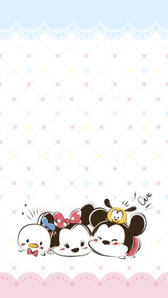 New Wall Paper Celular Iphone Mickey Ideas Tsum Tsum Wallpaper, Mickey Mouse Wallpaper, Cute Disney Wallpaper, Wallpaper Iphone Disney, Cute Cartoon Wallpapers, Kawaii Wallpaper, Cute Wallpaper Backgrounds, Kawaii Drawings, Disney Drawings