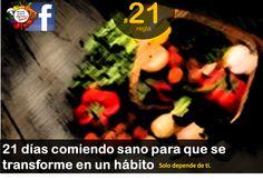 #regla de #autocuidado #21 Tu #cuerpo demora 21 días #comiendo #sano para que lo transforme en un hábito. Solo depende de ti #habitos #alimenticios #salud #healthy #21dias