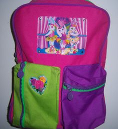 2659b44c81ab Lisa Frank Vintage Ballerina Bunnies Full Size Backpack Hard to Find!   LisaFrank Vintage Ballerina