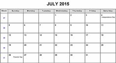 July 2015 Calendar Blank - Get an exclusive collection of July 2015 Calendar Printable Template, Word, Doc, Pdf and Holidays in US, UK, NZ, Canada, Australia.