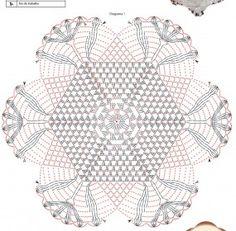 Tapete de crochê com flores – Passo a passo com gráfico