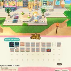"""✨Animal Crossing Patterns ✨ on Instagram: """"A worn deck/platform path! It's perfect for an outdoor beach cafe like in the pic! ✨Credit✨ LourissaACNH on Twitter ✨ Tags ✨ #acnh…"""""""