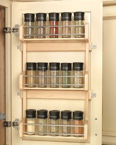 High Quality Wood Classics Maple Spice Rack Cabinet And Drawer Organizers     Want  Something Like This
