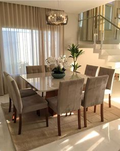 outstanding dining room table decor ideas 16 < Home Design Ideas Dining Room Table Decor, Dining Room Lighting, Dining Room Design, Dining Area, Dining Chairs, Small Dining, Dinning Room Curtains, Home Room Design, Home Interior Design