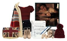 """""""writing you and i with niall"""" by gabriela-benitez ❤ liked on Polyvore"""