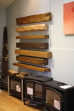 Beam or shelf for your stove? We can show you a large range of beam and shelves to compliments your stove. Fireplace Showroom, Fireplace Beam, Fireplace Shelves, Fireplace Surrounds, Wood Shelves, Electric Stove Fireplace, Focus Fireplaces, Log Burner, Gas And Electric