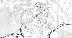 Animator: James Baxter Character: Giselle and Prince Edward Film: Enchanted (2007) Studio: Walt Disney Pictures Video: https://www.youtube.com/watch?v=vDrY-JmLhGA