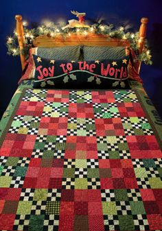 Now that's a little over-decorating for Christmas! But the quilt would work year-round.