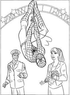 Have fun and relieve stress with this spiderman coloring book.Click this pin for more. spiderman coloring pages Batman Coloring Pages, Spiderman Coloring, Coloring Pages To Print, Coloring Book Pages, Printable Coloring Pages, Coloring Pages For Kids, Adult Coloring, Coloring Sheets, Marvel Comics