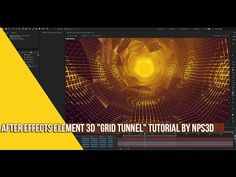 "(35) AFTER EFFECTS E3D ""GRID TUNNEL"" TUTORIAL BY NPS3D - YouTube"