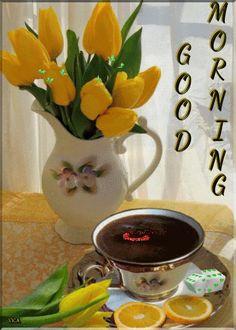 Good Morning Coffee Gif, Good Morning World, Good Morning Images, Coffee Time, Coffee Cups, Good Morning Greetings, Good Morning Wishes, Good Morning Quotes, Morning Board