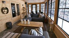 The rebirthed sunroom now stretches its seasonality thanks to locally sourced granite floors and Sunspace WeatherMaster Plus windows with insulating plastic memory glass that is virtually impervious to scratches, breakage, and bugs. Dressed with weatherproof wicker and accessorized with linen Robert Allen toss pillows, the sunroom is now a comfy and inviting place to chill year-round.