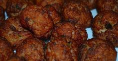 An alligator balls recipe using a mixture of alligator meat, egg, onions, and other ingredients, to form alligator balls. Creole Recipes, Cajun Recipes, Meat Recipes, Seafood Recipes, Cooking Recipes, Ninja Recipes, Louisiana Recipes, Best Italian Meatball Recipe, Italian Meatballs