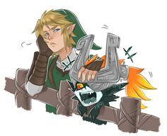 Midna x Link Legend Of Zelda Midna, Legend Of Zelda Memes, Legend Of Zelda Breath, Zelda Skyward, Skyward Sword, Link Zelda, Dope Cartoons, Dope Cartoon Art, Zelda Twilight Princess