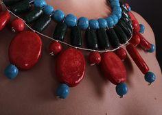Egyptian paste, necklace, ceramic, jewelery