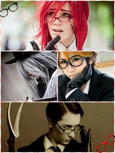 What if they were a boy band? The Reapers~    Grell Sutcliffe, Undertaker, Ronald Knox, and William T. Spears    Black Butler