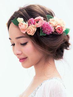 春を告げる女神を思わせる、幻想的な華やかさが魅力/Side|ヘアメイクカタログ|ザ・ウエディング