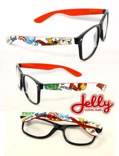 The Avengers Special Edition Custom Painted Glasses via PoppinCustom on Etsy.