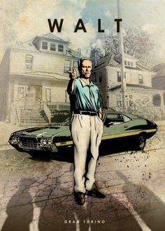 gran torino walt kowalski clint eastwood car legends legend muscle Characters*m. John Wick Mustang, Clint Eastwood, Auto Poster, Car Posters, Harey Quinn, Eden Design, Movies And Series, Kino Film, Alternative Movie Posters