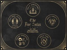 5 Solas of the Protestant Reformation by Christian Hilley Reformation Day, Protestant Reformation, World Day Of Prayer, My Chains Are Gone, 5 Solas, Sea Wallpaper, Soli Deo Gloria, Reformed Theology, Christian Symbols