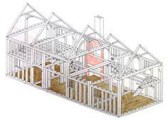 Hall house frame